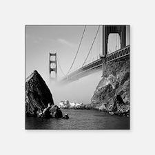 """GOLDEN GATE BRIDGE square2 Square Sticker 3"""" x 3"""""""