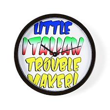 Little Italian Trouble Maker Wall Clock