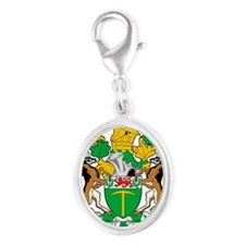Rhodesia 2a name Silver Oval Charm