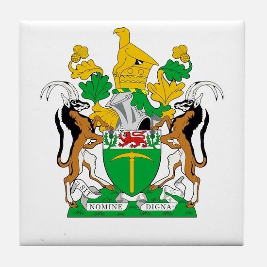 Rhodesia 4 neg Tile Coaster