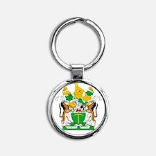 Rhodesia 4 neg Round Keychain