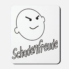 schadenfreude no bckgrnd 4 white Mousepad