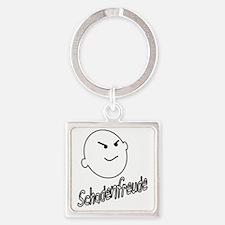 schadenfreude no bckgrnd 4 white Square Keychain