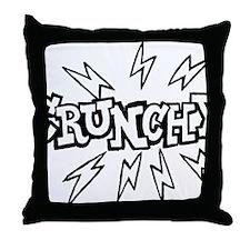 crunchy_BW Throw Pillow