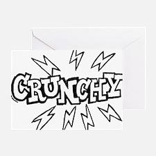 crunchy_BW Greeting Card