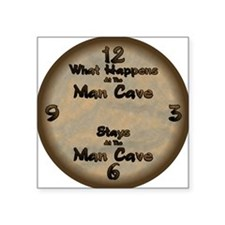 """What Happens at the Man Cav Square Sticker 3"""" x 3"""""""