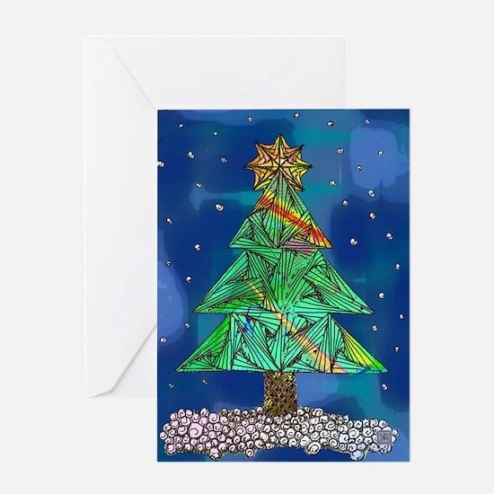 Tangle Tree Christmas Card
