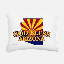 GodBlessArizonaYardSign Rectangular Canvas Pillow