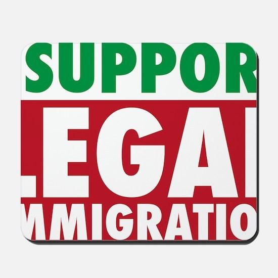 LegalImmigrationYardSign Mousepad