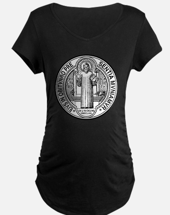 St Benedict Medal Front Bla T-Shirt