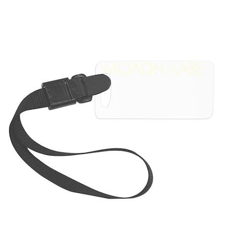 molon_labe_pistol_white Small Luggage Tag