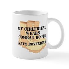 Navy Boyfriend Desert Combat Boots Mugs