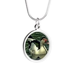 Muscove1 Silver Round Necklace