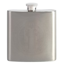 St. Benedict Medal Front  White Flask
