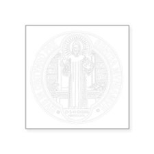 "St. Benedict Medal Front  W Square Sticker 3"" x 3"""