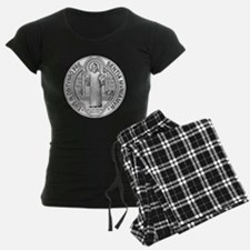 St. Benedict Medal Front  Wh Pajamas