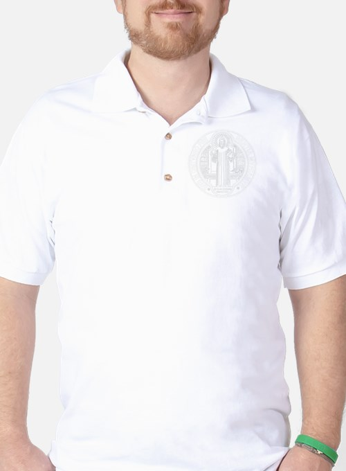 St. Benedict Medal Front  White T-Shirt