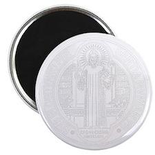 St. Benedict Medal Front  White Magnet