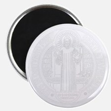St. Benedict Medal Front  White Magnet