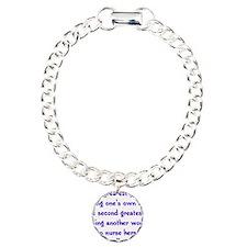 Greatest_Joy_Round Charm Bracelet, One Charm