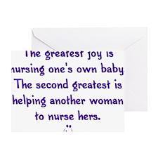 Greatest_Joy_Round Greeting Card