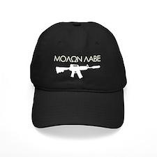 molon_labe_rifle_white Baseball Hat