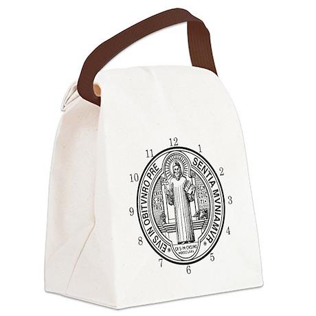 BENE CLOCK Canvas Lunch Bag