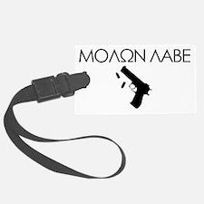 molon_labe_pistol_black Luggage Tag