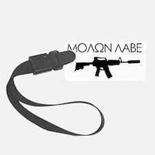 molon_labe_rifle_black Luggage Tag