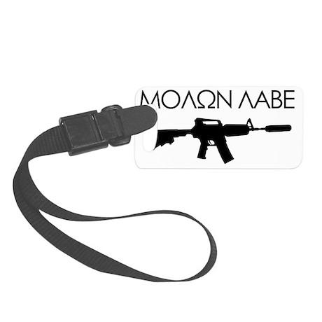 molon_labe_rifle_black Small Luggage Tag