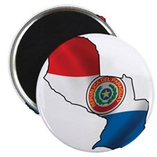 MapOfParaguay1 Magnet