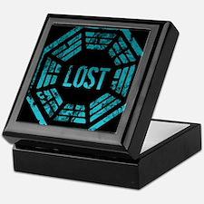 GrungeLostBlue Btn2 Keepsake Box