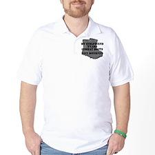 Navy Boyfriend Combat Boots T-Shirt