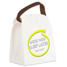 worknow02 copy Canvas Lunch Bag