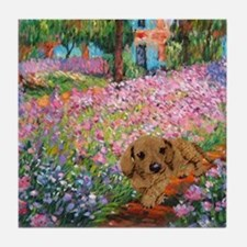 painting flowers tigher 12x16 copy Tile Coaster