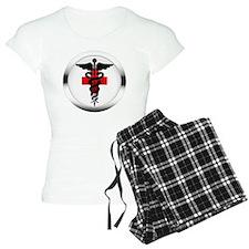 caduceus on red cross Pajamas