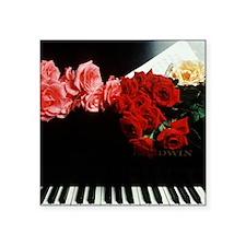 """piano square Square Sticker 3"""" x 3"""""""