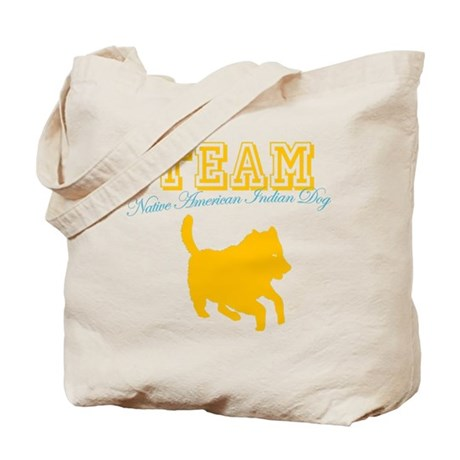 Native American Indian Dog Tote Bag