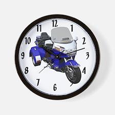 AB08 C-CLOCK LRG BLUE Wall Clock