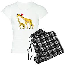 giraffe and baby cp wht Pajamas