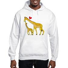 giraffe and baby cp wht Hoodie