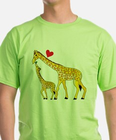giraffe and baby cp wht T-Shirt