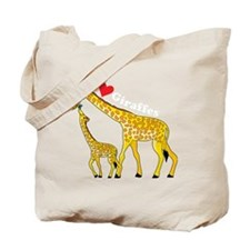 giraffe and baby cp wht Tote Bag