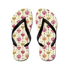 Colorful Hearts Flip Flops
