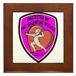 The Valentine Police Framed Tile