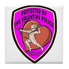 The Valentine Police Tile Coaster