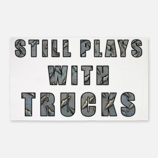 Still Plays With Trucks 3'x5' Area Rug
