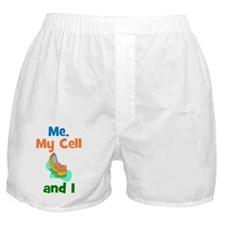 ME, MY CELL AND I Boxer Shorts