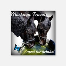 "horsedrinks3 Square Sticker 3"" x 3"""