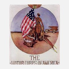 The Motor Corps of America Throw Blanket